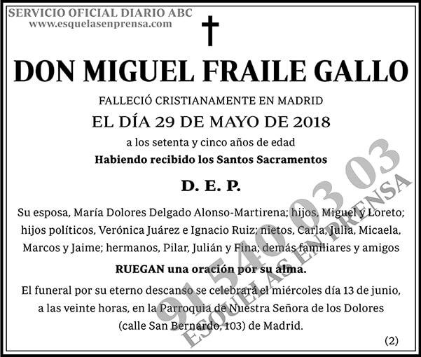 Miguel Fraile Gallo